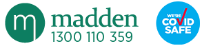 Madden and Associates Logo Covid Safe